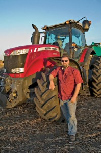 Peters with his new MF8680
