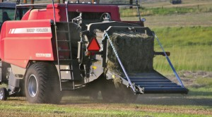 Their new Hesston by Massey Ferguson 2170 XD baler, which is being pulled by an MF6495 tractor, is making and saving them money.