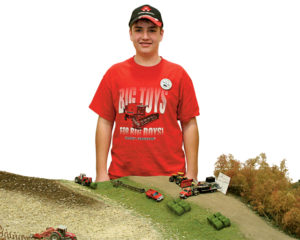 Eric Rinkel and his diorama extraordinaire. Photo by Jason Hasert.
