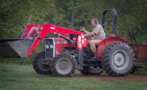 Robertson says the 243 is the perfect tractor for his hilly property.