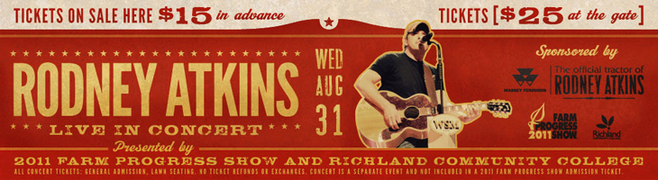 Buy Rodney Atkins Tickets Now for Farm Progress Show