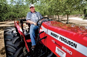 Bruce Brandt won a year's use of a Massey Ferguson® 2680 HD low-profile utility tractor at the 2011 World Ag Expo.