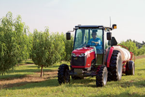 Waters uses this MF1660, along with his MF492 and an older 165, in his orchards.