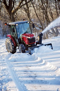 The 2360 snow blower will move 8 to 10 inches of snow easily