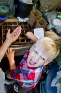 Starting seeds early in the season is a great way to get kids invested in the family garden.