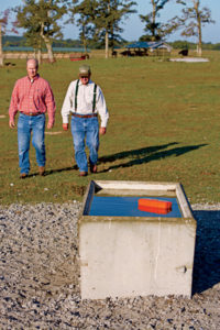 Hugh and Boyd Smith added a dozen concrete watering troughs around the farm, along with surrounding heavy-use areas, with help from NRCS.