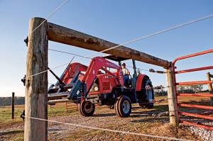Boyd uses a Massey Ferguson 5445 tractor with a 1070 loader for many of the chores around his farm. He also has a Heston 3727 tedder. Both were purchased from Ray's Farm Equipment in Newberry, South Carolina.