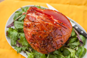 Brown-Sugar-and-Mustard Baked Ham
