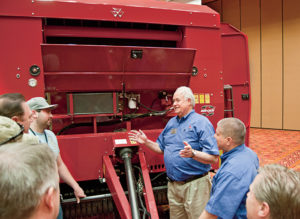 Dean Morrell, product marketing manager, Hay and Forage for Massey Ferguson, leads a training session at the 2013 National Training Event. Dealers and AGCO corporate personnel attended the four-day event for a series of workshops covering a variety of topics, such as equipment innovations and the future of agriculture.