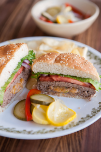 Jalapeño-Stuffed Venison Cheeseburgers