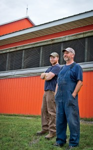 Gavin MacDonald (left) and his father Donnie, tag-team their approximately 150-year-old dairy near New Glasgow, Nova Scotia.