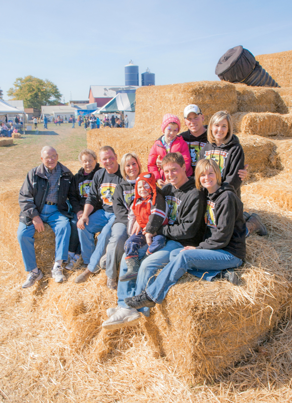 This festival is all in the family. Members of the Kuehnert clan at their inaugural Kuehnert Dairy Farm Fall Festival.