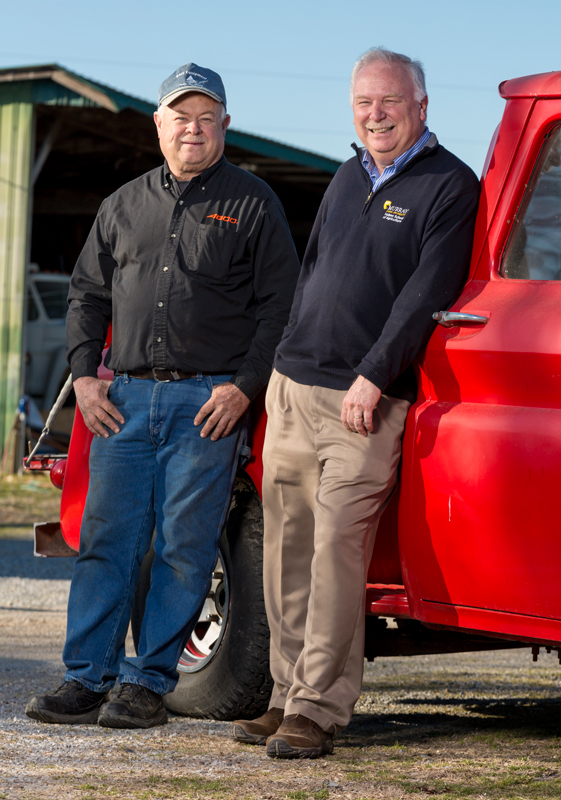 Tony Brannon, right, with his brother Tim, owner of AGCO farm equipment dealer, B&G Equipment in Paris, Tenn.
