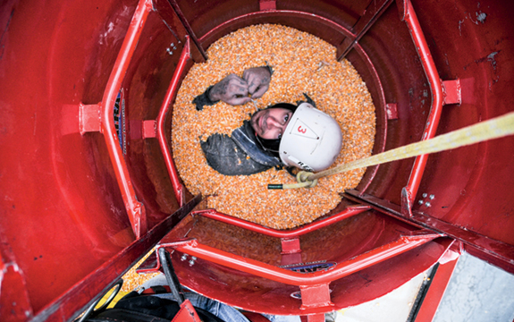 "Rescue tubes allow rescuers to ""remove the grain from the victim, not the victim from the grain,"" says Jeffrey Decker of GSI, a leading manufacturer of farm storage bins and silos."