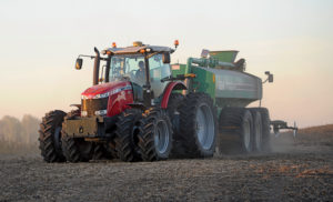 """Holm injecting manure: """"If you're smelling manure, you're losing nitrogen,"""" he says."""