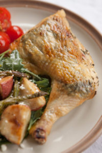 Baked Lemon-Herb Chicken Quarters