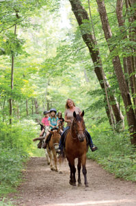 One of what is an average of eight trail rides a day.