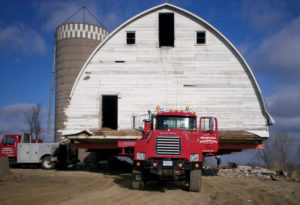 Part of the Reads' rebuilding project: Restoring an old barn they recovered and moved from a nearby state park.