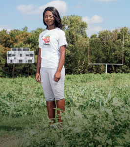 Dallas native and student farm worker Monicea Barnes