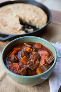 Hunter's Venison Stew and Buttermilk Cornbread