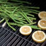 Grilled Asparagus and Lemon, and Grilled Corn on the Cob