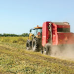 Hesston® by Massey Ferguson 2946A (Auto-Cycle™) model round baler equipped with a silage kit