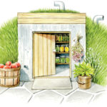 A root cellar is the perfect place to store the fruits and vegetables you worked hard to produce on your farm.