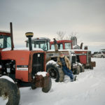 Tim Tabbert and his vintage tractors.
