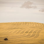 Tractor farming the hills of the Palouse region